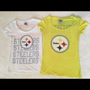 Women's VS Pink Pittsburgh Steelers T-shirt Bundle